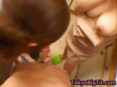 Asian girls sucking cock in the kitchen part3