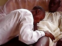 Worshipping A Big African Cock