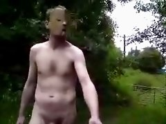Nude in Public - Very long walk through the woods