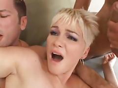 Claudia Downs DP fuck & swallow cum