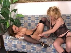 Babes inserting fists into their vaginas