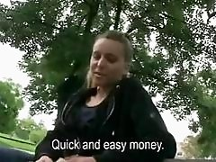 Pretty Czech girl pussy banged for money