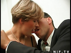 French milf in stockings sodomized