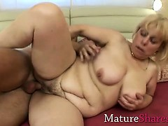 Plump hairy mature Alice