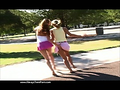 Girly fun in the park