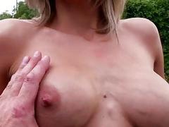Czech slut Blanka Grain flashes n ripped