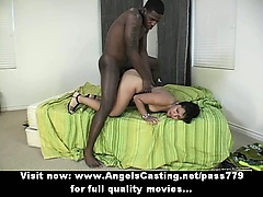 Mesmerizing asian chick fucked hard and receiving cumshot on face