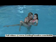 Nicole Ray and Bella Cole independent lesbian babes having threesome orgy