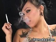 Crispy Smoking Gal Hungry Sex
