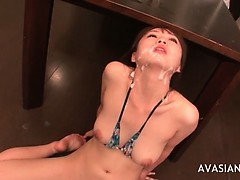 Hardcore asian mouth cumshot