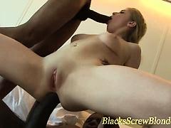 Big black cock dp fuck and facial