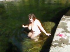 celestewoodrow takes a dip