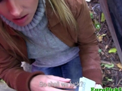 Euro girl nextdoor fingered for cash