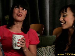 Femdom cfnm teen babes love cock with coffee