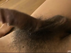 Naughty busty Ruri Kouda with cum in her mouth and on her tits