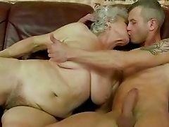 Naughty busty granny gets fucked