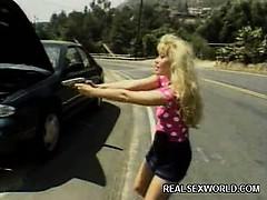Sexy blonde Zasu Outdoor Fuck