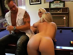 Devon brought buxom Hayley home for Marcus to take some