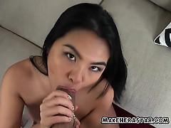 Sexy Asian Cindy Starfall Sucks A Big Fat Cock