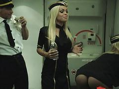 Flight attendant Katsuni crazy threesome