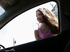 Hitchhiker teen Anita B banged in public
