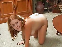 Filthy bitch Cherry Poppens spits her freshly caught cumload into a glass