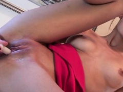 Sensational toy isertion is done for joy as she gets nasty