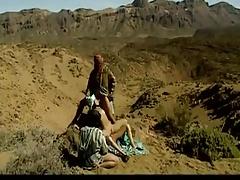 Three Arabs fucks hot Arabian  slut in desert .