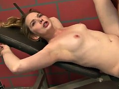 threesome sex in a locker room with the horny tera knightly
