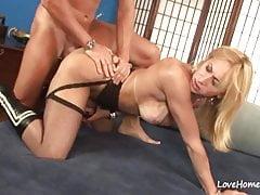 Ladyboy in black stockings fucking a horny man.mp4
