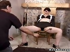 Hogtied and spanked