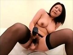 Hairy pussy camgirl horny masturbates toys on webcam