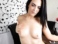 Hot secretary does the best striptease ever