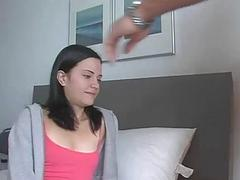 Horny females are giving guy a shlong examination