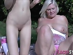 Outdoor Sex With Granny