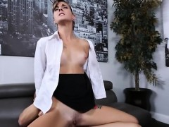 Office babe Dakota Vixin gives head and fucked hard