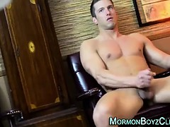 Young straight strips and jerks for an older gay man