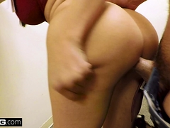BANG Real MILFS Lexi Luna gives a BJ in a dressing room