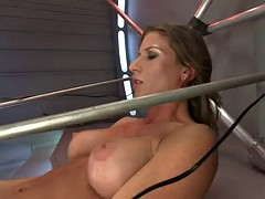 she rides a sybian and fucks three dildos