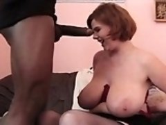 Bbw redhead gets interracial facia Santa from 1fuckdatecom