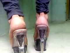 6 pairs of plat highheels