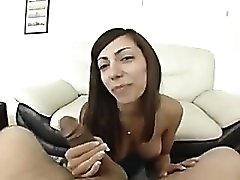 Gorgeous smile on a POV cocksucker