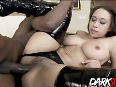 Ebony boy loves the way his finest buddy's wifey, Aurora Jolie is fellating and railing his meatpipe