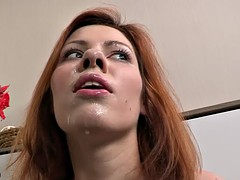 Amateur redhead is a kinky little slut and loves fucking