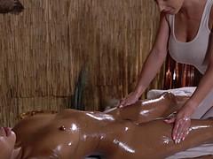 interracial lesbian massage scene