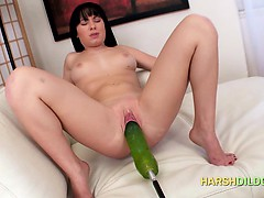 Slut Fucked By Dildo Machine