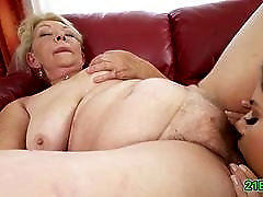 Lesbian love with granny