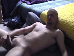 Skater punk wanking in his room