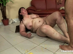 Horny brunette is a great cock pleaser