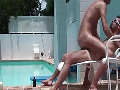 bareback fuck poolside Poolside